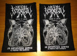 IMPIETY'25 Satanized Years....' Woven Patch.