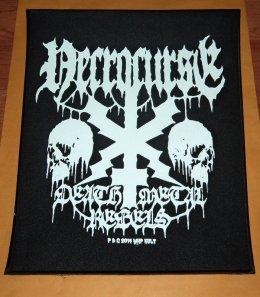 NECROCURSE'Death Metal Rebels' Back Patch.