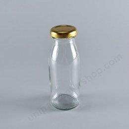ขวดแก้ว 180 ml (TG432) พร้อมฝาเกลียวล็อค สีทอง ขนาด 38 mm