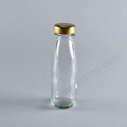 ขวดแก้ว ขนาด 100 ml  (TG505) พร้อมฝาเกลียวล็อค สีทอง ขนาด 30 mm