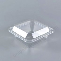 กล่องสลัดใสเหลี่ยม 100 gm+ฝา