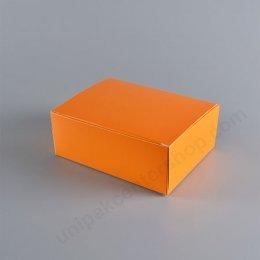 กล่องกระดาษเค้ก 12 x 16 x 6 cm สีส้ม