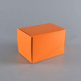 กล่องกระดาษเค้ก 9 x 13 x 9 cm สีส้ม