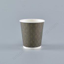 FEST ถ้วยกระดาษ 8 oz. INSULATED CUP (PC003-BKดำ) (ใช้คู่กับฝา รหัส 9349)