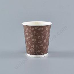 FEST ถ้วยกระดาษ 8 oz. INSULATED CUP (PC004-BWน้ำตาล) (ใช้คู่กับฝา รหัส 9349)