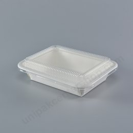 FEST กล่องอาหารกระดาษปลอดภัย 650ml (HB-001)+ฝา PET