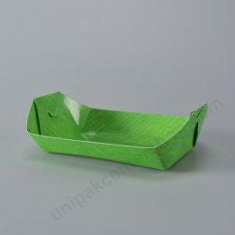 """FEST ถาดกระดาษทรงเรือ 9"""" (PT002) ลายใบตอง"""