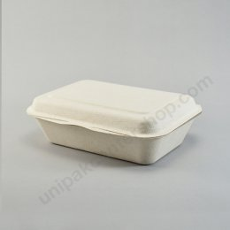 Bio เยื่อไผ่ กล่องอาหารเหลี่ยม B004 - 450 ml