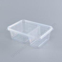 กล่องอาหาร 2 ช่อง PP (750ml)+ฝา