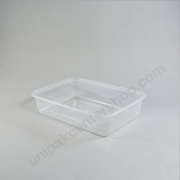 กล่องใส่อาหาร วัสดุ PP พร้อมฝา บรรจุ 500 ml ตรา โรดดี้แพค