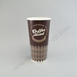ถ้วยกระดาษ 22 oz (660 cc) ลาย Coffee Road ตรา โรดดี้แพค