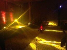 เช่าไฟปลอม LED 200 วัตต์ แสงสีแดง