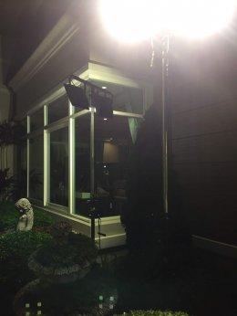 SET 4 เช่าไฟสปอตไลท์ LED 200 วัตต์ วอมไวท์ (แสงนวล)