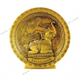 Golden Elephant Show Plate