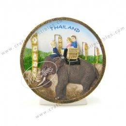 Chiangmai Elephant Show Plate (Small)