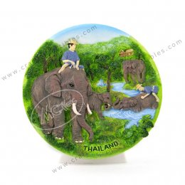 Elephant Forest Show Plate