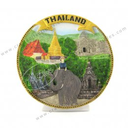 Thailand (Gold Banner) Show Plate
