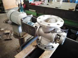 Test a rotary valve model WSV100 with plastic pellet