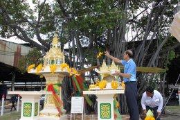 The ceremony of establishing the Phra Phum Shrine