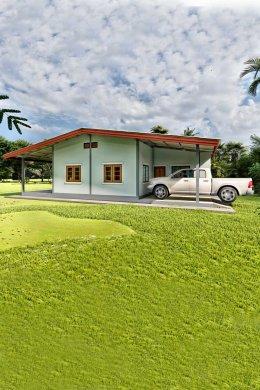 แบบบ้านเกษตรพอเพียง 98 ตารางเมตร