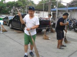 กิจกรรมรณรงค์ทำความสะอาด บริเวณที่ทำการ และที่พักอาศัยของสน.หนองแขม