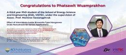 Congratulations to Phatsawit Wuamprakhon