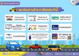 สถิติการชำระภาษีรถประจำปี ในเขตกรุงเทพมหานคร เพิ่มต่อเนื่อง