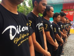 Employee of delongcoffee to the remembrance of His Majesty King Bhumibol Adulyadej's.