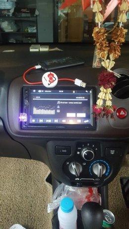 HONDA BRIO ติดตั้ง X-CELL708 เครื่องเสียงรถยนต์ 2 din ราคาถูก ฟังชั่นครบ