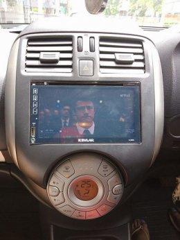 NISSAN ALMERA ติดตั้ง K-2669 เครื่องเสียงรถยนต์ 2 din Android แท้ ฟังชั่นครบ