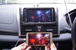 TOYOTA NEW VIOS ติดตั้งเครื่องเสียงรถยนต์ 2 din X-169  เชื่อมต่อ iOS & Android ครบ