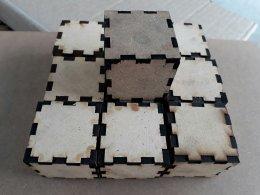 กล่องลูกบาศก์ ขนาด 4x4x4 cm (ไม่ลงสี)
