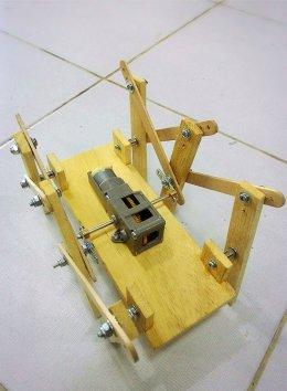 ชุดคิตหุ่นยนต์ 6 ขา Single Motor (3-Speed gearbox) แบบใช้แบตเตอรี่