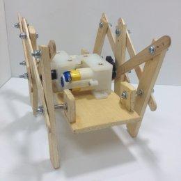 ชุดประกอบสำเร็จ หุ่นเดินหกขาโครงสร้างไม้ รุ่น Modify (ไม่รวมรีโมท)