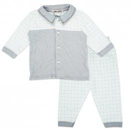 ชุด2 ชิ้น เสื้อคอปกแขนยาวและกางเกงขายาว
