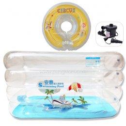 สระน้ำ+ห่วงคอ สำหรับเด็ก Hello Baby Pool พร้อมเครื่องสูบไฟฟ้า