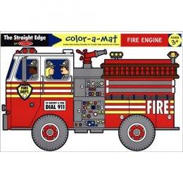 Write-A-Mat Learning Mat - Fire Engine