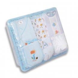 ชุดของขวัญแบบตะกร้าสี่เหลี่ยม Size M - Auka สีฟ้า