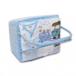 ชุดของขวัญแบบตะกร้าหิ้ว Size M - Auka สีฟ้า