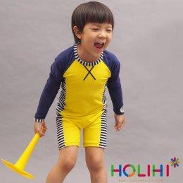 Holihi Swimsuit (Zip) ชุดว่ายน้ำ เกาะเหลายา(ฟ้า) - SWZ Lao Yha/B