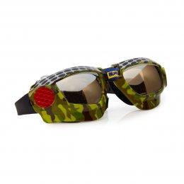 แว่นตาว่ายน้ำ Bling2o - MUDCAMO DIRT RACER BLACK METAL GRILL
