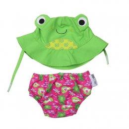 กางเกงผ้าอ้อมว่ายน้ำ+หมวกกันแดด Zoocchini  - Frog