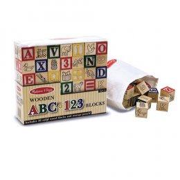 ของเล่นเด็ก มาลิซซ่าแอนด์ดัก บล๊อกไม้เรียนรู้ตัวอักษร ABC และ 123