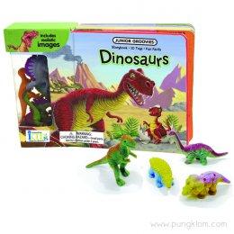 หนังสือ พร้อมของเล่นประกอบการเรียนรู้ Junior Groovies - Dinosaurs