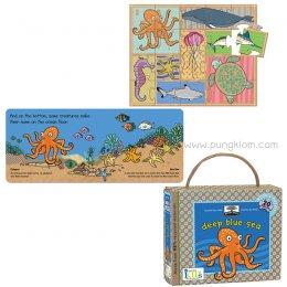 หนังสือนิทานเด็ก พร้อมพัซเซิล จิ๊กซอว์ Book & Game Sets - Deep Blue Sea