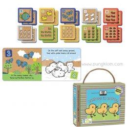 หนังสือนิทานเด็ก พร้อมการ์ดเกมจับคู่ Book & Game Sets - Numbers in Nature