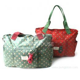 กระเป๋าสะพายข้างเก็บสัมภาระ Daily Dot Nappy Bag สีแดง