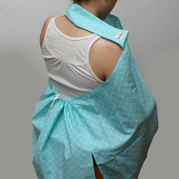 ผ้าคลุมให้นม Beanie Nap รุ่นมีผ้าปิดหลัง ลาย Mint Green
