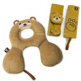 Benbat เซ็ทหมอนรองคอเด็ก พร้อมปลอกสายรัดเข็มขัดรูปหมี (0-12 เดือน)