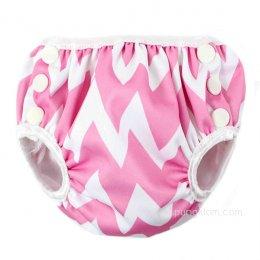 กางเกงผ้าอ้อมว่ายน้ำเด็กเล็ก Bumkins Size S - Pink Chevron